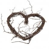 Herz aus Weinrebe Dekoherz natur braun 25 x25 cm
