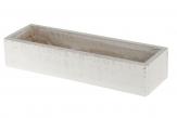 Holzkasten zum Bepflanzen weiß 30x9x6cm 1Stk