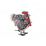 Huhn aus Metall schwarz 20cm 1Stk