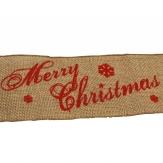 Weihnachtsband Jute Merry Christmas 10cm5m 1Stk