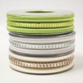 Dekoband gestreift in drei Farben 25mm20m