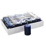 Kerzen dunkelblau 8x5cm 24Stk