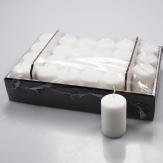 Kerzen weiß 8x5cm 24Stk