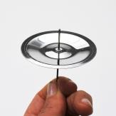 Kerzenteller mit Dorn in silber 6cm 4Stk