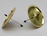Kerzenteller mit Dorn gold 8cm 4Stk