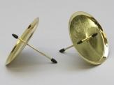 Kerzenteller zum Stecken gold 10cm 4Stk