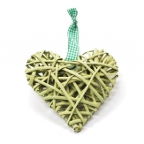 Korbherz aus Rebe grün 15x15cm 7Stk
