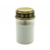 LED-Grabkerze weiß Batteriebetrieb 12cm