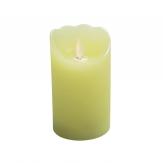 LED-Kerze aus Wachs creme mit Flackerdocht Timer 12cm 1Stk