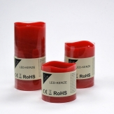 LED-Kerze aus Wachs rot Batteriebetrieb Timer in verschiedenen Größen