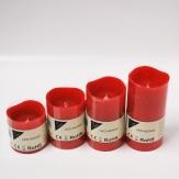 LED-Kerze aus Wachs rot Batteriebetrieb in verschiedenen Größen