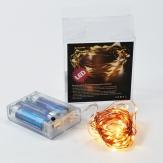 LED Kupferdraht Lichterkette 20 Lichter 2m
