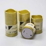 LED-Kerze aus Wachs gold Batteriebetrieb in verschiedenen Größen