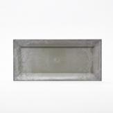 Longo / Dekoteller Kunststoff länglich hellgrau 36x17cm