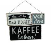 Metallschild Kaffee 23x18cm 2Stk