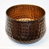 Metall-Topf bauchig d 25 cm h 20 cm