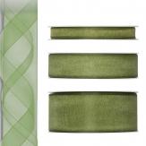 Dekoband Organza grün 50m in drei Größen
