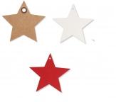 Weihnachten - Papier Anhänger Stern versch. Farben und Größen