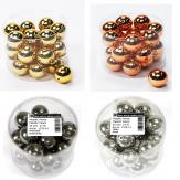 Metall Perlen in verschiedenen Farben Ø30mm 24Stk