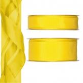 Satinband - Drahtkante gelb 25m in zwei Größen