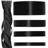 Satinband schwarz 50m in verschiedenen Größen