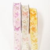 Schmetterling Dekoband verschiedene Farben 25mm20m