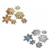 Eiskristalle in gold oder silber 4,5cm 37Stk