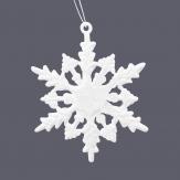 Schneeflocken weiß Glitter  6cm 36Stk