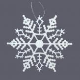 Schneesterne weiß 10cm 24Stk