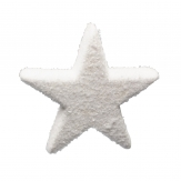 Schnee-Sterne weiß zum Hängen 19cm 4Stk