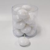 Schwimmkerzen weiß  4,5 cm  20 Stück
