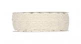 Hochzeitsband aus Baumwolle mit Lochstickerei creme 10mm10m