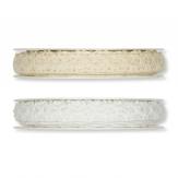 Spitzenband - Häkelspitze weiß und creme 13mm7m