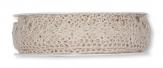 Spitzenband - Häkelspitze - taupe 20mm10m 1Stk