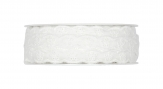 Spitzenband Lochstickerei weiß 10mm10m