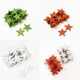 Weihnachten - Sterne zum Streuen in versch. Farben 4,5cm 36Stk
