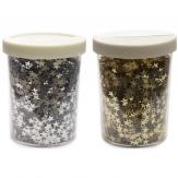 Sternenglitter zum Streuen in silber oder gold 80g