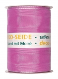 Deko Seide Taftband mit Moire pink 100mm10m