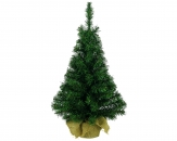 Tannenbaum grün im Jutesack 45cm 1Stk