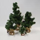 Tannenbaum grün im Jutesack 35cm
