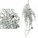 Tannenhänger grün-weiß bereift 96cm 1Stk