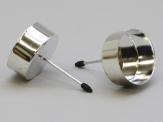 Teelichthalter zum Stecken silber 42mm 4Stk