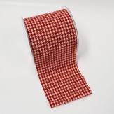 Dekostoff Tischband Hahnentritt rot-weiß  10cm (10 Meter)