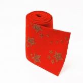 Filz Tischläufer rot mit Sternen  15x200cm