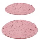 Tischset Emotion rosa rund in zwei Größen 4Stk