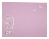 Tischset rosa 45x35cm 2Stk