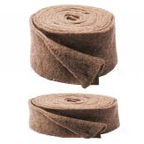Wollvlies Topfband Lehner Wolle braun- beige braun in 2 Größen