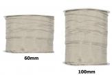 Plissee Taft grau-pearl in versch. Breiten 10m