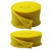 Wollvlies Topfband Lehner Wolle gelb - gelb in 2 Größen