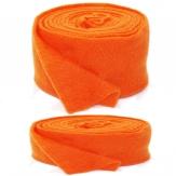 Wollband Lehner Wolle orange-hellorange in 2 Größen